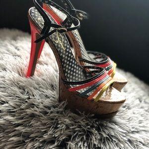Jessica Simpson Neon Platform Heel Sandal